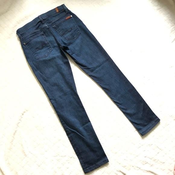 7 For All Mankind Denim - 7FAM Roxanne dark skinny jeans/ 27